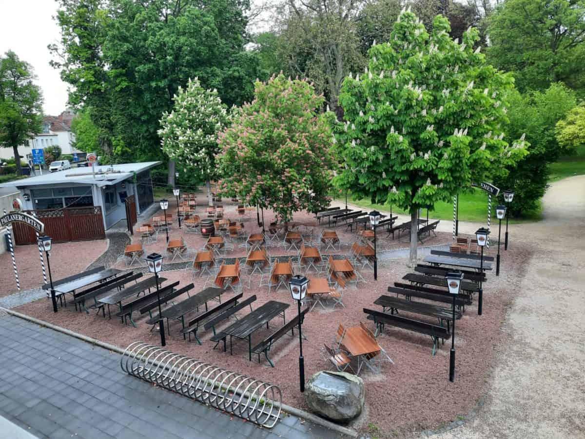 Biergarten Adelheid Von Hanau am Congress Park Hanau