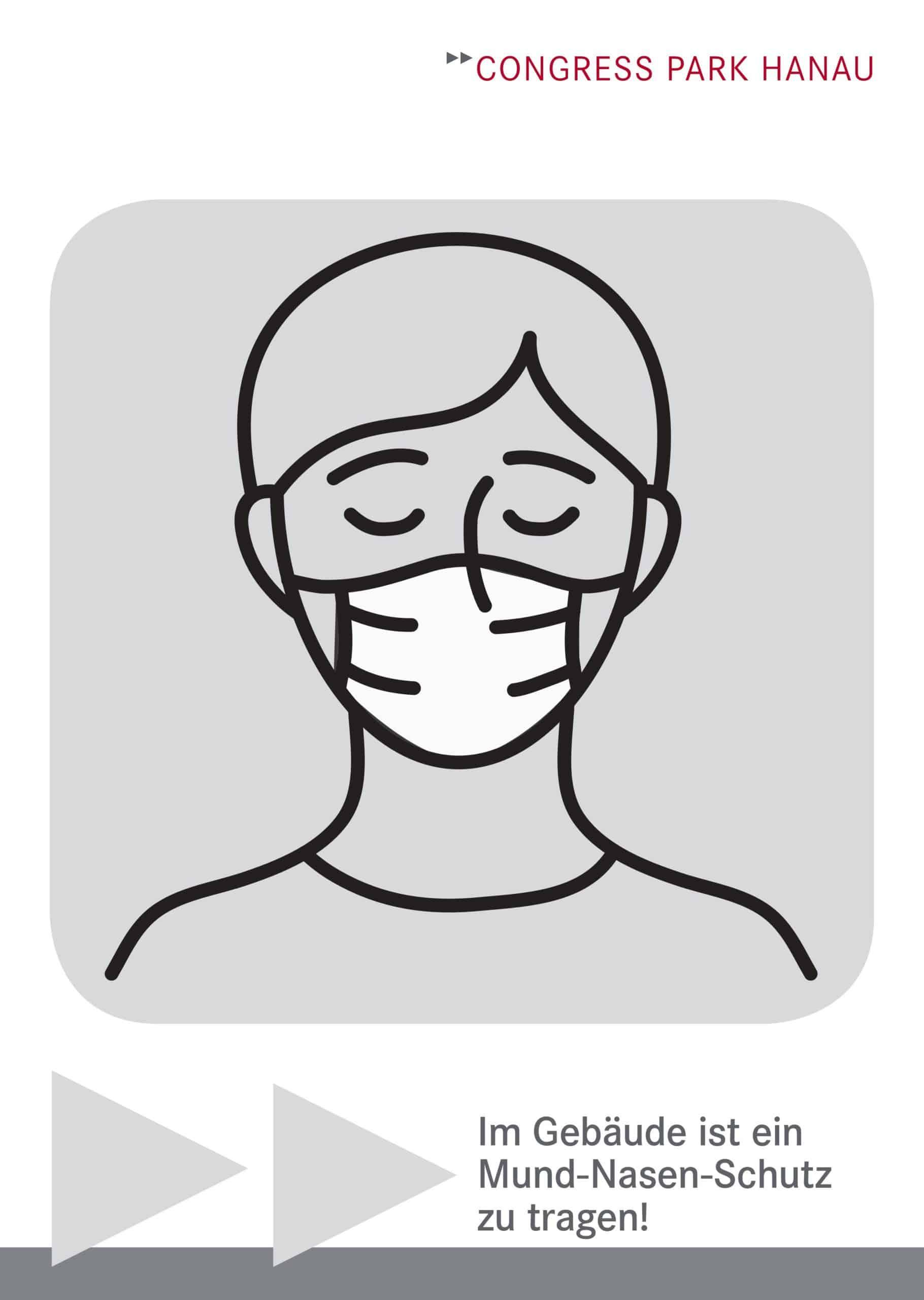 CPH Maskenpflicht Ausschilderung