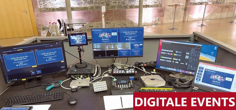 Liveübertragung eines digitalen Events