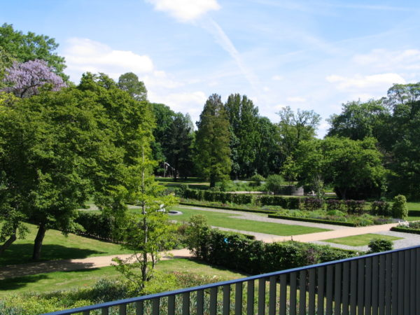 CPH Blick von Terrasse auf den Schlossgarten