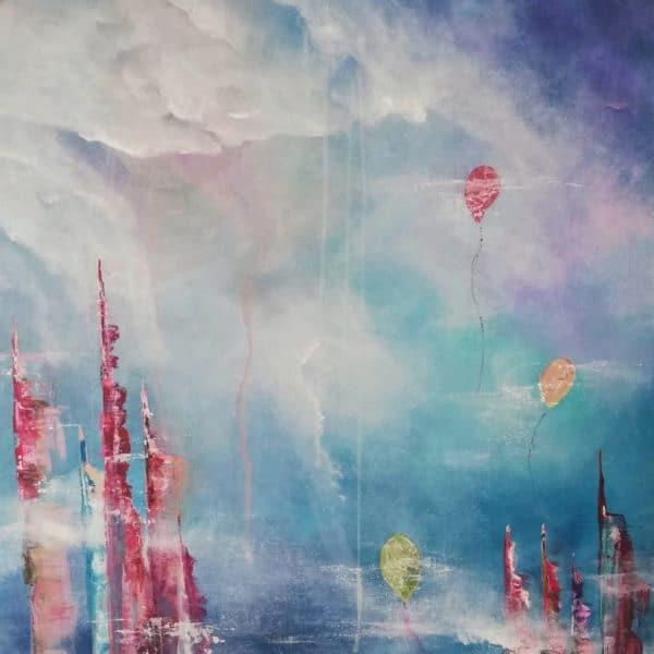 Skyline über den Wolken