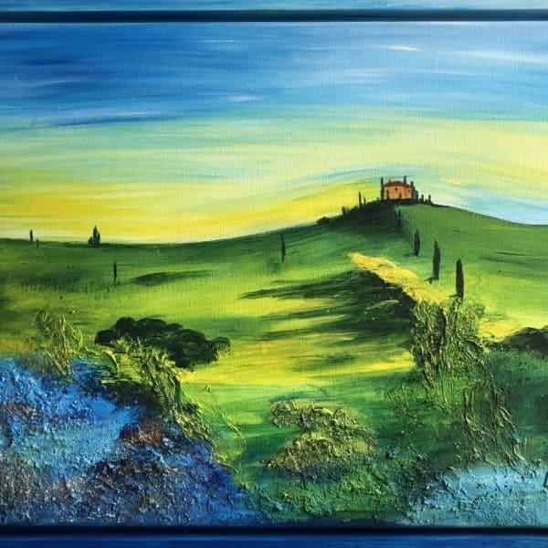 Lisa van Bonn: Toscana. Acryl auf Leinwand, gerahmt