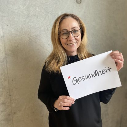 Nicole Rautenberg wünscht Gesundheit