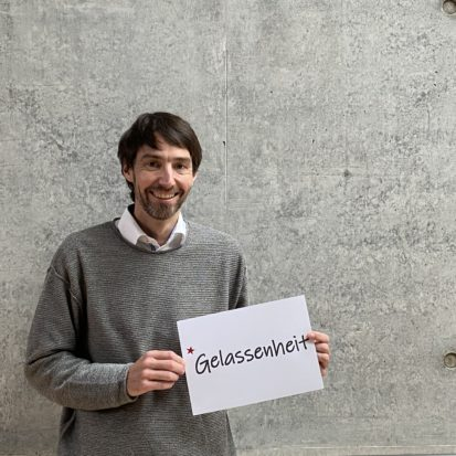 David Rautenberg wünscht Gelassenheit