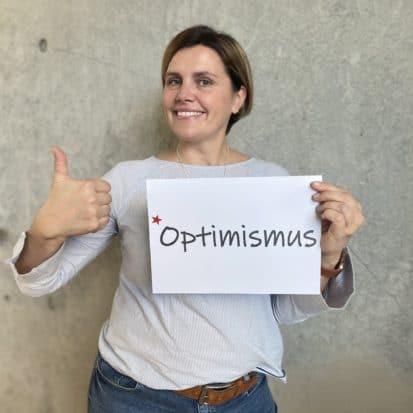 Sabine Maiwald-Wolf wünscht Optimismus